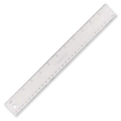 "Flexible Ruler, English and Metric Measurements, 12"", Clear, Sold as 1 each"