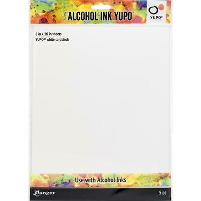 Yupo Alcohol Ink Paper - Tim Holtz - White 8x10 - 5 Sheets - NEW!