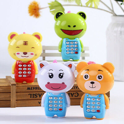 Kid boy girl toddler Baby Educational Toy Music lights up Mobile Phone Shape UK