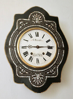 A Good Antique c19th French Vineyard Clock
