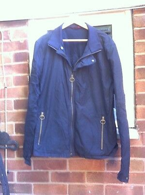 BARBOUR ACE Greatcoat South Shields Blue Country Designer jacket size XXL