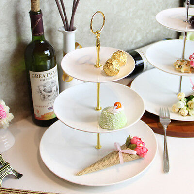 3 Tier Cake Plate Stand Handle Fitting Hardware Rod Dessert Pan Plates Kit LH
