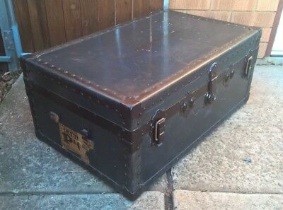 Antique Vintage Steamer Travel Cabin Trunk