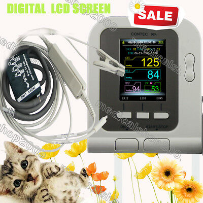 Vet Veterinary Digital Blood Pressure Monitor Spo2, PR, Spo2 Probe, for pets