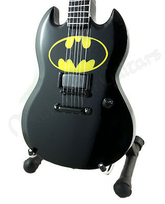 Miniature Guitar BATMAN with free stand