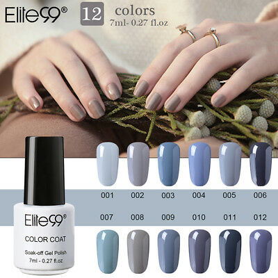 Elite99 Esmalte Semipermanente de Uñas Colores grises Series Soak Off Manicura