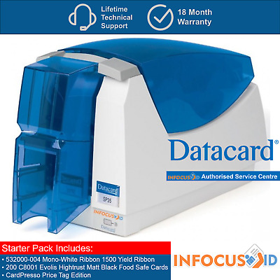 New Datacard SP35 Single Sided DTC ID Printer Price Tag Edition And Starter Pack
