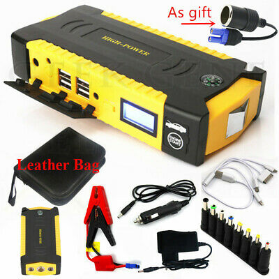 Portable 82800mAh Car Jump Starter Booster 4USB Charger Battery Power Bank 12V