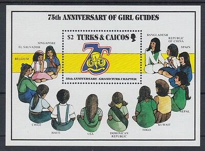 XG-AC103 TURKS & CAICOS ISLANDS IND Girl Guides,1985 Scouting,75Th Anniversary