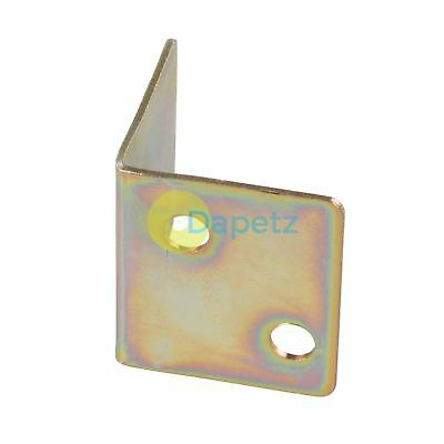 Angle Plates  Zinc Plated With 3 X Fixing Holes For Shelving 10Pk 28X25X1.0mm