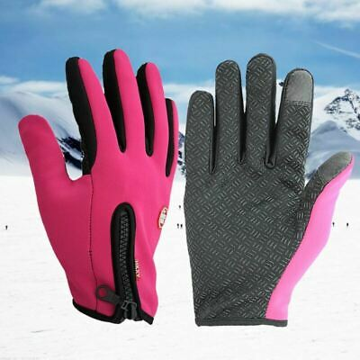 1 Pair Gloves Waterproof Windproof Fleece Gloves for Outdoor Riding Cold Weather
