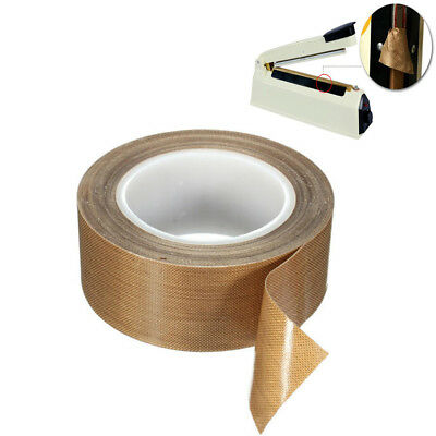 Teflon Tape Adhesive PTFE Heat Resistant Nonstick Insulation Tape Length 10m
