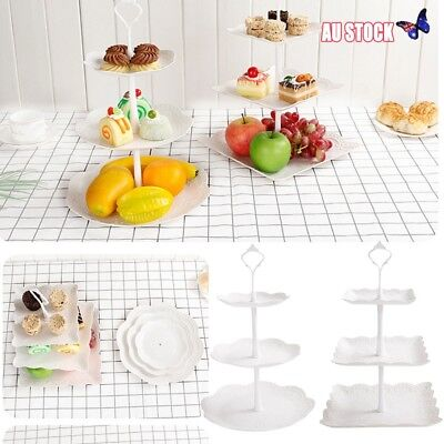3-Tier Cupcake Stand Cake Dessert Wedding Event Party Display Tower Plate AU
