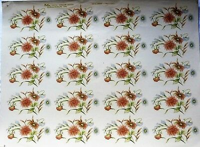 CERAMIC DECALS HARLOW  20 / 747703 8cm X 10cm 6 ON A SHEET RIGHT PRICE