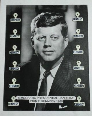 John F Kennedy Tabs  Presidential Election Campaign Pinbacks Buttons Badges Lot
