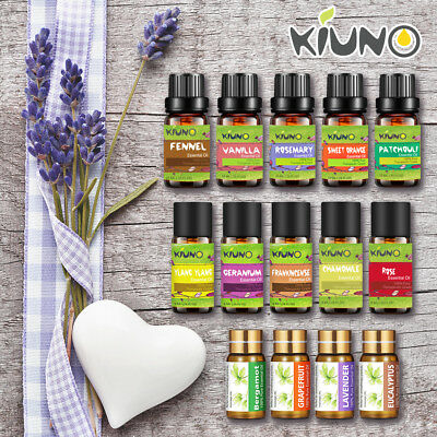 KIUNO 10ml Essential Oils 100% Pure Natural Aromatherapy oils fragrance Aroma AU