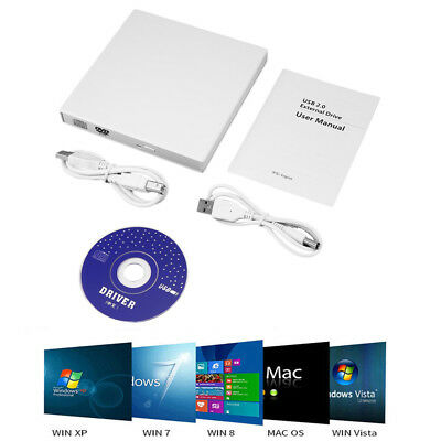 USB 2.0 Extern CD-RW DVD±RW Brenner Slim Laufwerk Portable Notebook PC