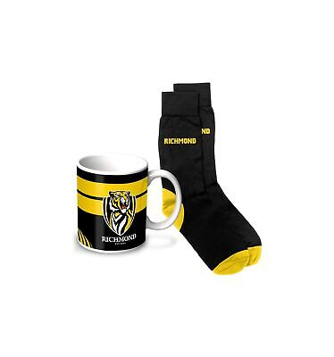 Richmond Tigers Mug & Sock Gift Pack Official AFL Fathers Day