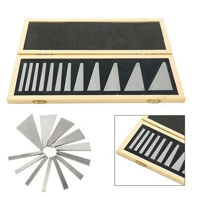 12 PCS Precision Angle Block Set Lathes Milling Ground Gauge Machinist Tool NEW