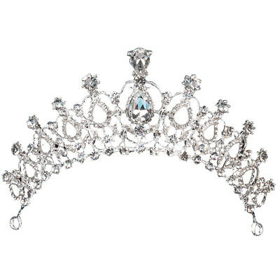 Bridal Wedding Crystal Rhinestone Crown Hair Comb Headband Tiara Prom Pageant