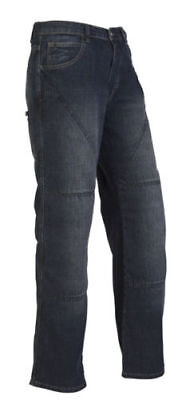 Hornee Sa-M3 Relax Fit Mens Bruised Wash Blue Aramid Motorcycle Jeans