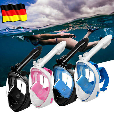 Breath Full Face Mask Surface Diving Snorkel Scuba for GoPro Swimming Set SM/LXL