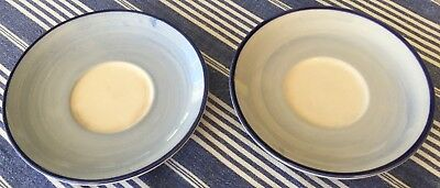 Vintage Laura Ashley 'Daffodils' Saucers Set of 2 Hand Decorated 1994