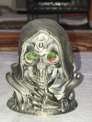 Heavy Pewter Skull with Crystal Eyes
