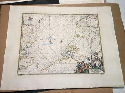 HAND COLORED MAP ETCHING, reprint of an antique, Germany Europe