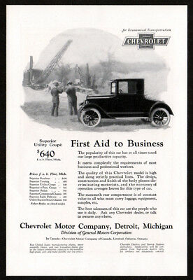 1924 CHEVROLET Superior Coupe Antique Vintage Original Print AD - First aid