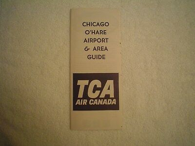 Vintage Trans-Canada Airlines Chicago O'hare Airport Guide Air Canada From 1964