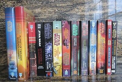 Star Wars Novels Books Mixed Paperbacks and Hardcovers 13 books total