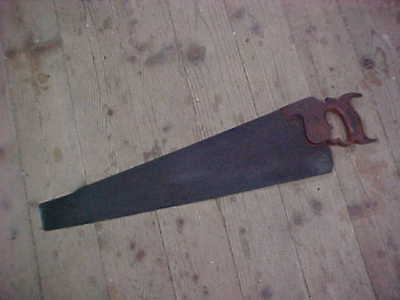 Vintage Henry Disston & Sons No.9 London Spring Hand Saw