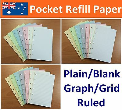40/pk Pocket Size Journal Planner Diary Insert Refill Ruled Graph Plain JAPAN