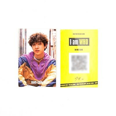 [Stray Kids]2nd mini album I am WHO Official QR Photocard/BEHIND ver./BANGCHAN