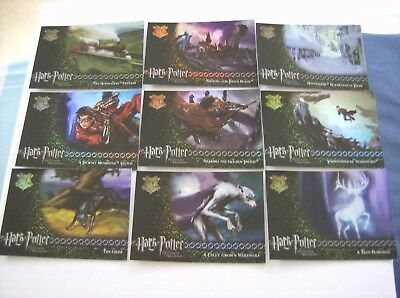 "Harry Potter And The Prisoner Of Azkaban-All 9 X ""r"" Cards-Full Set-R1-R9."