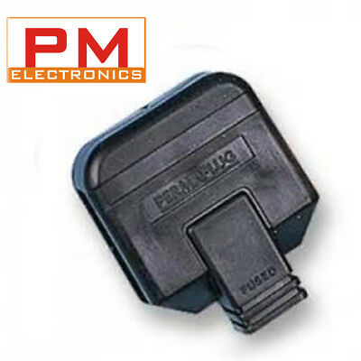 Heavy Duty 3 Pin UK Mains Perma Plug 13Amp Fuse in Black & White Various Pack