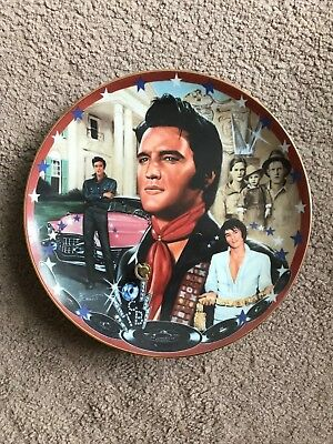 Elvis plate Collectible MUSICAL Numbered Ltd Edt plays American Trilogy