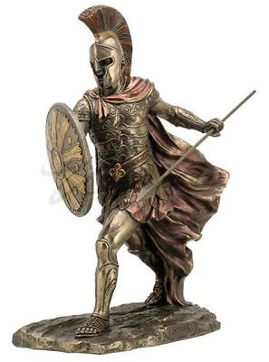 Achilles Unleashed With Spear and Shield Statue Sculpture Figure - Gift Boxed