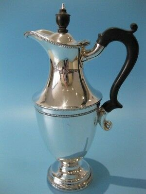 Extremely Elegant Antique Silver Plated Georgian Coffee Pot / Hot Chocolate Pot