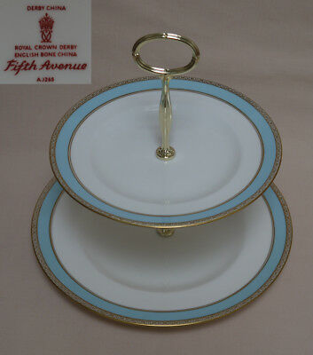 "Royal Crown Derby ""Fifth Avenue"" TWO TIER CAKE STAND"