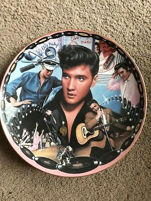 Elvis plate Collectible MUSICAL Numbered Ltd Edt plays Hound Dog