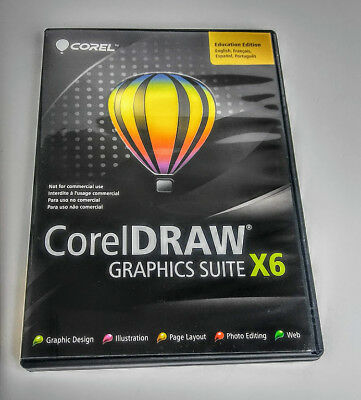 CorelDRAW X6 GRAPHICS SUITE  Education Edition - FREE SHIPPING