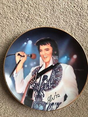 "Elvis plate Collectible crystal detail Numbered Ltd Edt "" The Phoenix "" 1995"