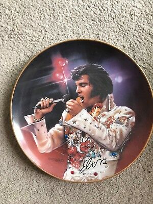 "Elvis plate Collectible crystal detail Numbered Ltd Edt "" The King "" 1995"