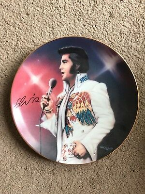 "Elvis plate Collectible crystal detail Numbered Ltd Edt "" The Vision "" 1995"