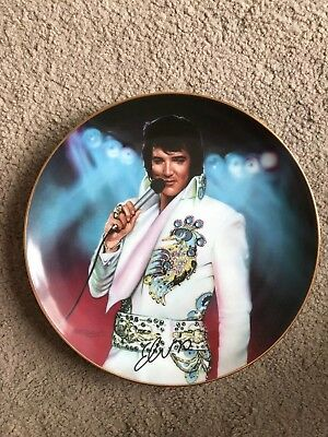 "Elvis plate Collectible crystal detail Numbered Ltd Edt "" The Legend "" 1995"