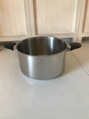 Kuhn Rikon 6 Liter Pot Luna Swiss Made Stainless Steel No Lid