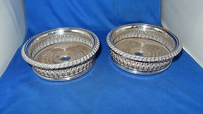 Lovely Pair Antique Sheffield Plate Wine Coasters C.1810 Original Condition