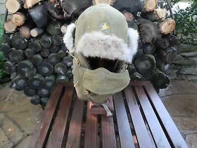 *Original* WW2 Japanese Cold weather Cap Hat with hard to find Nose protector!!